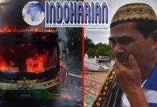 Sebuah Bus Terbakar Di Pasirsalam, Penyebabnya Bikin Warga Sekitar Panik!!