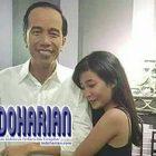 Hah!!! Jokowi Dipeluk Seorang Gadis, Begini Posenya