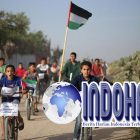Impian Pesepeda Palestina Pupus Karena Kakinya Kena Timah Panas