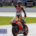 Kemenangan Kelima Marquez Setelah Mengalahkan Rossi. Begini Balapannya…