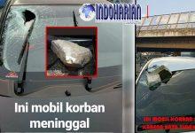PARAH!! Mobil Dilempari Batu di Tol Cikampek