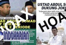 Ternyata Ustadz Somad Dukung Jokowi Itu Adalah Hoax