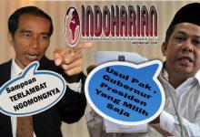 Usul Fahri Hamzah Gubernur Itu Presiden Yang Milih, Kenapa ya??