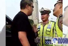 Medsos Dihebohkan, Seorang Pengemudi Mobil Fortuner Mengumpat ke Polisi