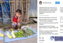 Foto Bocah Berjualan Sayuran Sekejap Menjadi Viral, Gara-gara Dia…