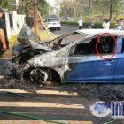Warga Komplek Grandwis Dihebohkan Peristiwa Mobil Terbakar Tiba-tiba
