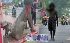 Permalink to Pelaku Perusakan Ekor Patung Sudah Tertangkap, Menderita Gangguan Jiwa