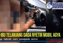 Kronologi Pengendara Wanita Bugil Tabrak Tiga Kendaraan
