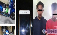 Permalink to Sial!! Hendak Kabur, Dua Pencuri Hp Terpojok di Palang Portal